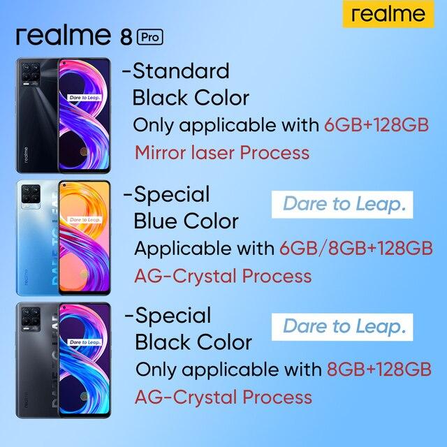Realme 8 Pro Smartphone 108MP Camera Russian Version Snapdragon 720G Processor 6.4'' inch AMOLED Dispaly 50W Super Dart Charge 2