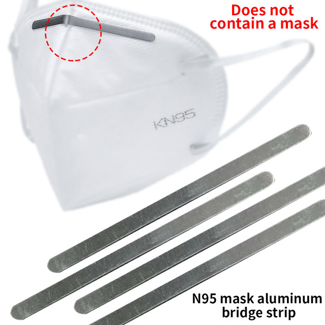 100pcs Durable Nose Bridge Strip with Adhesive Outdoor Sport Face Mask for N95 100PCS Aluminum Riding 90mm Epidemic Prevention 2
