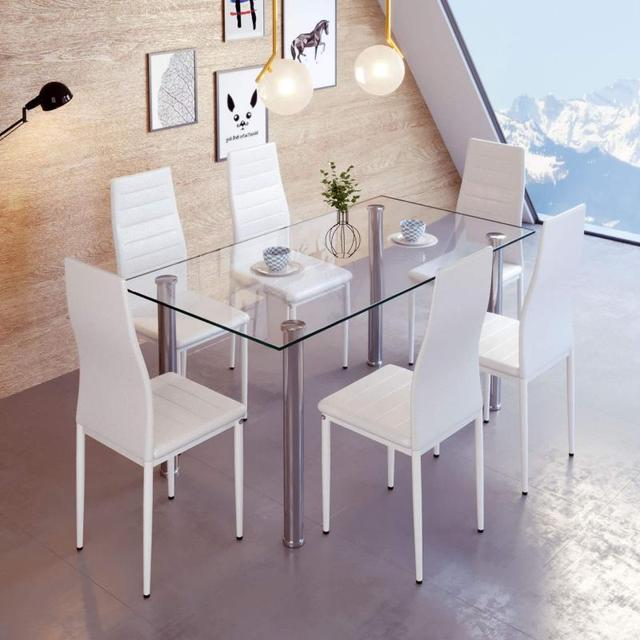 6PCS  Leather Dining Chairs  2