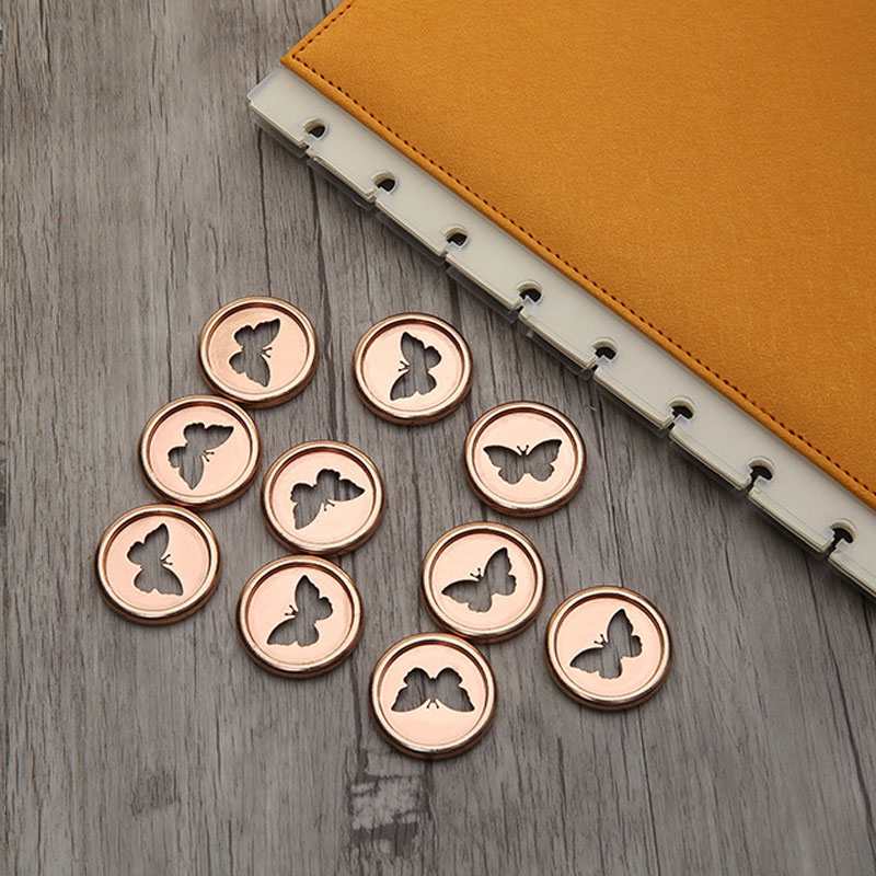 28mm 10pcs/lot Mushroom Hole Disc-binding Loose-leaf Colored Office Storage Binding Ring School Supplies For Newspapers