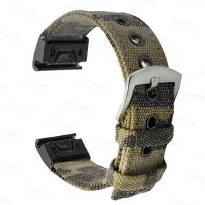 Image 2 - Fenix 6 22mm 26mm  Wristband Retro Nylon Nato Quick Fit Watch Band Strap for Garmin Fenix 5 Plus//935/Approach S60/Fenix 5X Plus