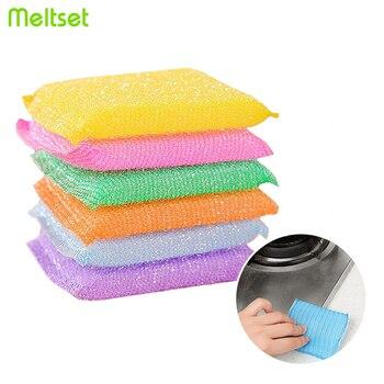4 Uds paño de limpieza de cocina esponja mágica paño de lavado plato antiadherente lavar cocina toalla conjunto de accesorios para Cocina