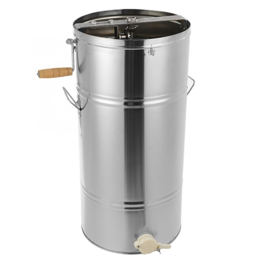 25*45CM Stainless Steel Manual 2 Frames Bee Honey Extractor Honey Centrifuge For Beekeeper Honey Extractor