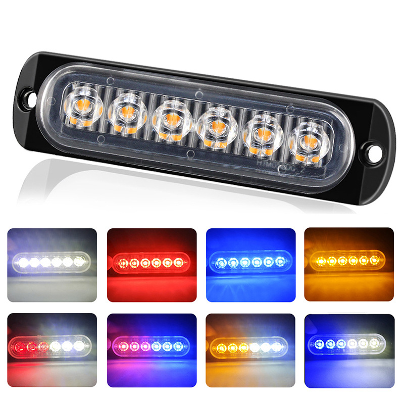 New Truck Side Light Ultra Thin 6 LED Side Light Truck Flash 6 Light Bulb Car Marker Light Pickup Signal Light Warning Light