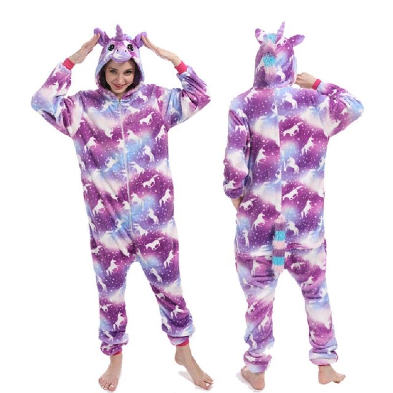 Unicornio Women Pajamas Adults For Animal Cartoon Onesie Colorful Diamond Unicorn Pajamas Sets Stitch Flannel Pajama XL