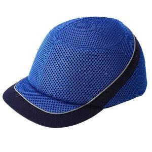 Image 4 - Tampão de colisão anti impacto capacetes de pouco peso capacete de segurança de trabalho de proteção com listras reflexivas respirável chapéu de segurança 4 cores