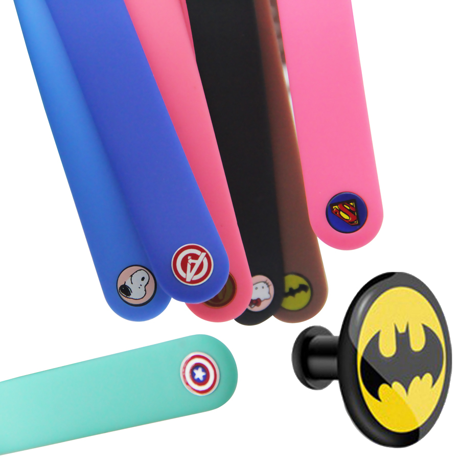 Superhero Aluminum Alloy Button For Mi Band 4 Strap For Xiaomi Mi Band 4 3 Nfc Band Wristband Silicone Straps For Miband 4/3