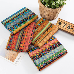 Bronzing Nigeria Cloth Printed Cotton And Linen Fabric Sewing Material For Patchwork Needlework Diy Handmade Accessories