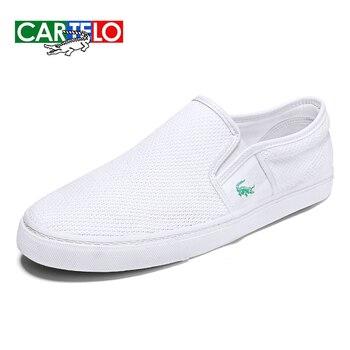 CARTELO hombres casual Luz color sólido hombres y mujeres pueden llevar un par de zapatos de lona bajos mujeres zapatos perezosos кроссовки