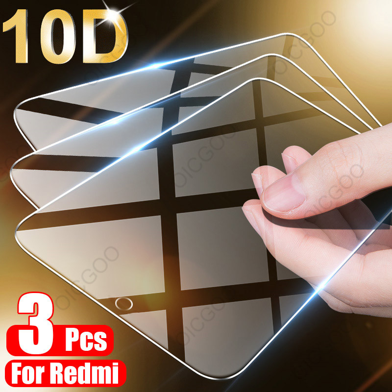 3Pcs Full Cover Tempered Glass For Xiaomi Redmi Note 9 8 7 5 6 9S 10 Pro Max Screen Protector For Redmi 8A 8 7 7A 9 9A 8T Glass