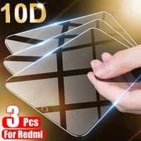 3 uds la cubierta de vidrio templado para Xiaomi Redmi Nota 9 8 7 5 6 9S 10 Pro Protector de pantalla máx para Redmi 8A 8 7 7A 9 9A 8T de vidrio