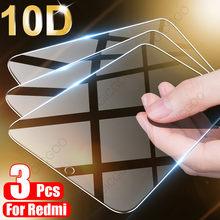 3 pezzi di vetro temperato a copertura totale per Xiaomi Redmi Note 9 8 7 5 6 9S Pro Max pellicola salvaschermo per Redmi 8A 8 7 7A 9 9A 8T vetro