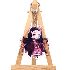 Аниме демон убийца Kimetsu no Yaiba Kamado Tanjirou косплей реквизит брелок Kamado Nezuko акрил прекрасная цепочка для ключа брелок