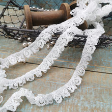 5meters Exquisite Ruffle Lace Ribbon Trims White Beige Color for Underwear Side Doll Clothing Cuffs Skirt Pants Lace Accessories(China)