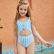 Для От 5 до 12 лет дети живой Цельный купальник бикини для подростков