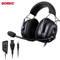 SOMIC G936N 7.1 Virtual Gaming Headsets Surround Sound USB 3.5mm Noise Cancelling Headphones for PS4 PC Games for Xbox one