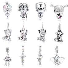 925 Sterling Silver Bead Charm Boy Girl Mr.& Mrs. Wise Puppy Cat Woody Jessie Buzz Light Year Dumbo Beads Fit Pandora Bracelet