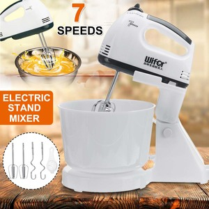 7 Speed 100W Electric Food Mixer Table Stand Cake Dough Mixer Handheld Egg Beater Blender Baking Whipping Cream Machine