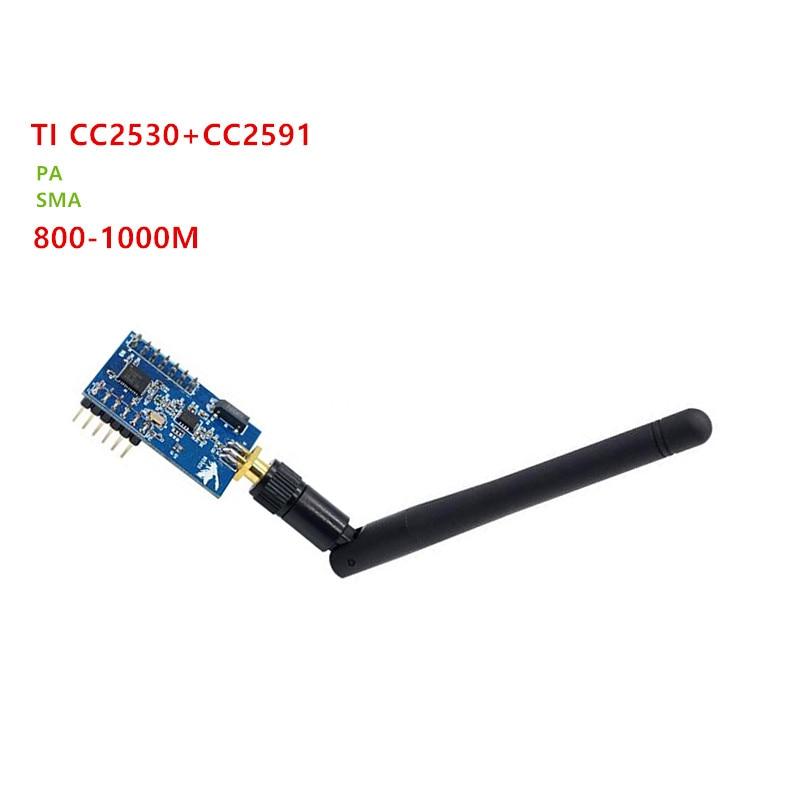 ZigBee PA Module CC2530 CC2591 ZigBee to TTL Uart Wireless 1000m with Antena