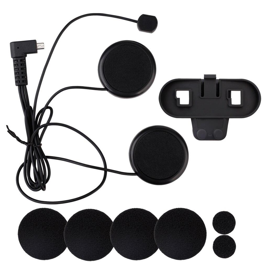800M kask motocyklowy domofon bluetooth przewodowy kask motocyklowy słuchawki dla TCOM-SC miękka linia klip