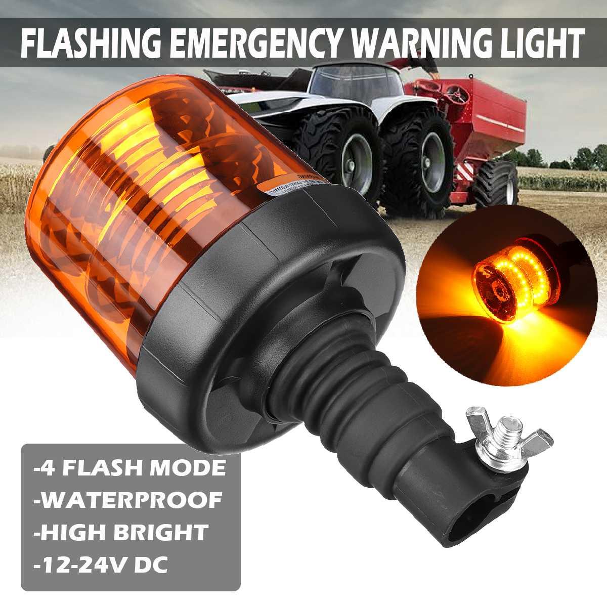 40 Led car truck strobe warning light Super Bright Flashing Emergency Warning Light Amber Beacon Working light E9 for Tractor
