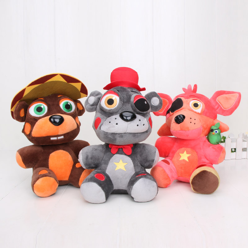3style Five Nights At Freddy's Plush Doll Freddy Fazbears Pizzeria Simulator Ver Rockstar Foxy Lefty El Chip FNAF Plush Doll