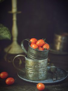 Image 3 - Iron Cup Round Iron Cup Ins Style Vintage Iron Plate Still Life Food Photography Props