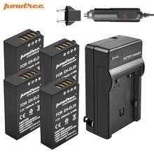 Powtree EN-EL20 EN EL20  Battery 7.2V 1300mAh +Battery Charger+Car charger for Nikon 1 J1 J2 J3 S1 Free Drop Camera L15 New все цены