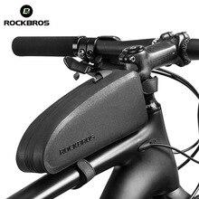 ROCKBROS велосипедная Сумка водонепроницаемая велосипедная верхняя передняя Труба каркасная сумка большая емкость MTB дорожный велосипед панье черный велосипед аксессуары