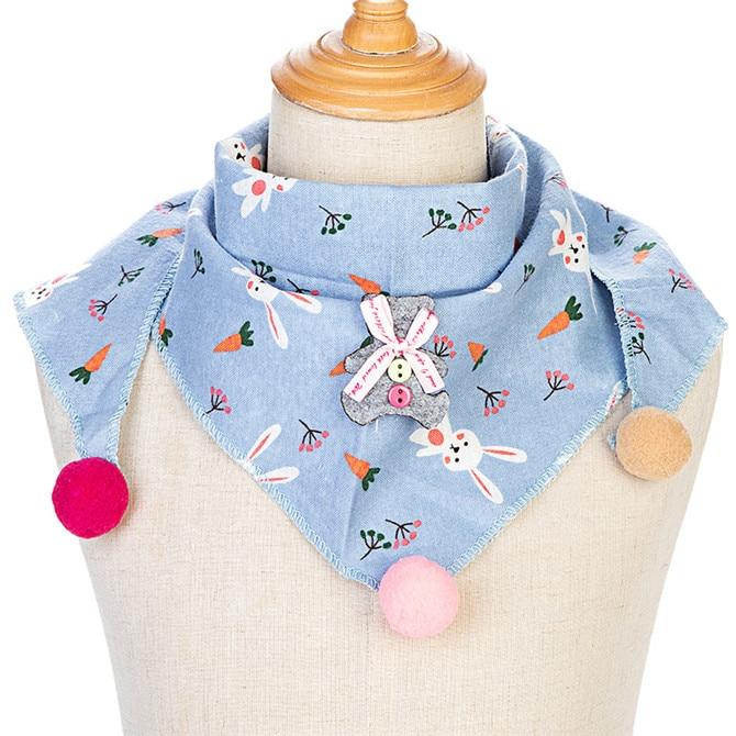 Весенние клетчатые треугольные шарфы в горошек для маленьких девочек; осенне-зимняя шаль для мальчиков и девочек; Детские хлопковые воротники; теплый детский шейный платок - Цвет: C10