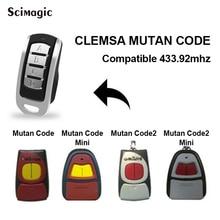 Für Fernbedienung garage CLEMSA 433MHz garagentor steuer klon für CLEMSA MUTANCODE MINI MUTANCODE II MINI rolling code
