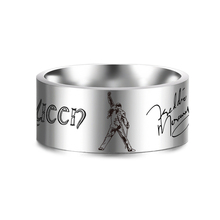 Rock Singer Freddie Mercury Rings Jewelry Punk Ring for Women and Mens Stainless Steel Silver Rings SL-156 dmlsky king of rock rings jewelry black silver punk ring for women and mens stainless steel ring couple rings m2816