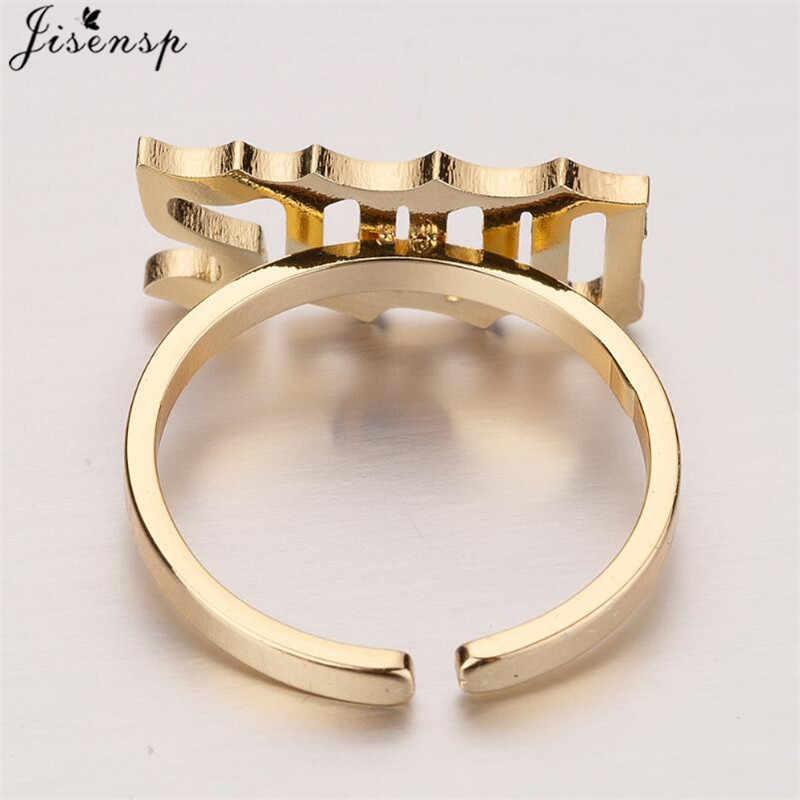 Jisensp Acero inoxidable joyería antiguo inglés Número anillos para Mujeres Hombres 1980 a 2000 regalos de cumpleaños anillos mujer