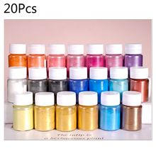 20 Pearlescent powder Epoxy Resin Dye Pearl Pigment Natural Mica Mineral Powder