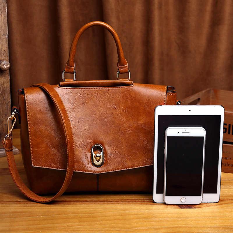 Женская сумка из натуральной коровьей кожи, зимняя женская кожаная сумка, большая женская сумка на плечо, ручная сумка для женщин, женская сумка K25