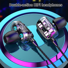 2020 New Dual Drive Stereo Wired earphone In-Ear Sport Headset With Mic mini Earbuds Earphones For iPhone Samsung Huawei Xiaomi new original l3 lightning digital earphone lightning interface drive by wire earphone with mic for iphone 7 plus