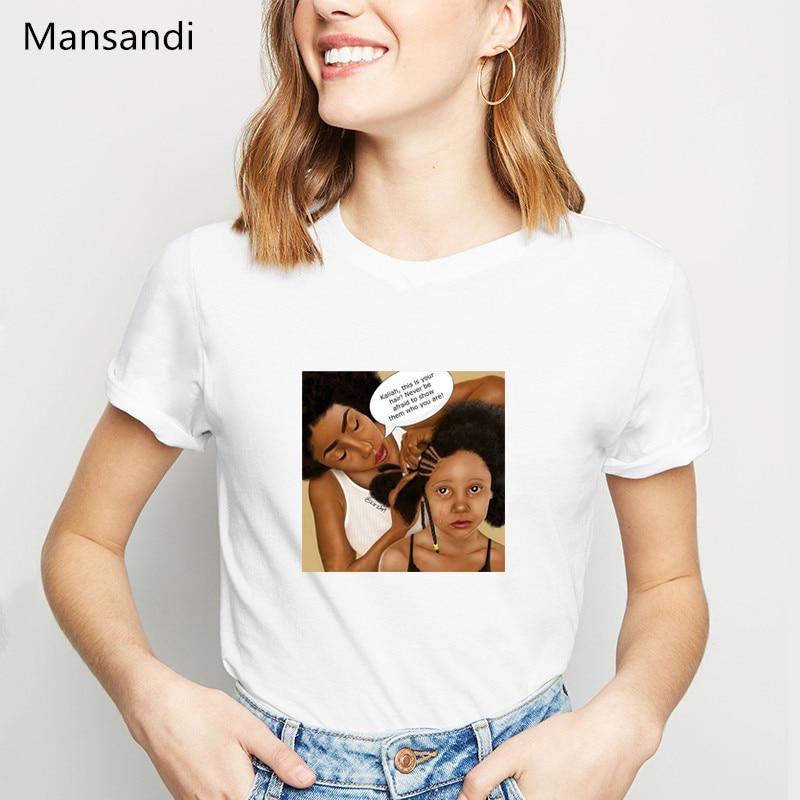 Melanin poppin shirt super mom tshirt women clothes 2019 vogue t shirts Mother's Love printed female t-shirt streetwear tops