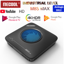 Mecool Smart Tv box M8S MAX, Android 7,1, decodificador de televisión con 3G + 32G, Amlogic S912 Octa core, wi fi 2019G/5G, Bluetooth, USB, 2,4