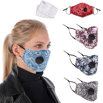 Reusable Fabric Cotton Adult Camouflage Mask Anti PM2.5 Dust Haze Windproof Mouth Masker And 2pcs Activated Carbon Masks Filter