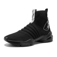 High Top Sneakers Men Casual Shoes Elasticity Wedge