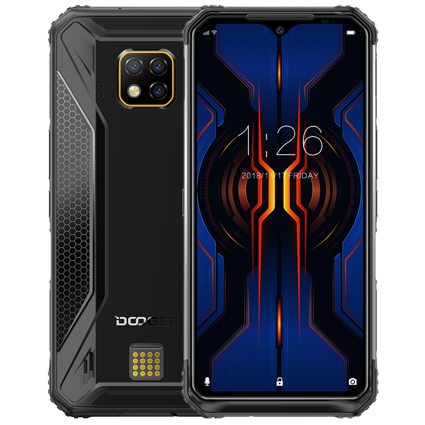 DOOGEE S95 PRO Rugged SmartPhone 6.3'' 8GB RAM 128GB ROM IP68/IP69K 5150mAh Helio P90 Octa Core Android 9.0Pie 48MP Mobile Phone
