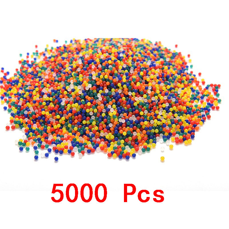 Abbyfrank 5000 Pcs Colorful Crystal Soft Bullet Water Gun Bullet Bibulous Toy Air Accessories For P90 Toy Gun Water Bullet