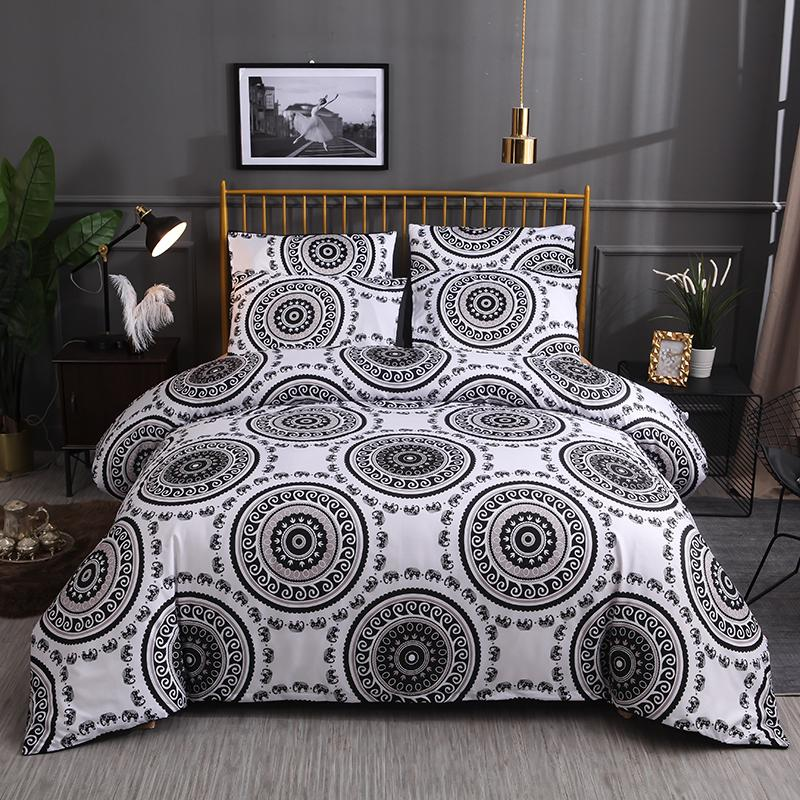 50 Bedding Set Printed Duvet Cover King Queen Size Sets Quilt Cover Brief Bohemian Style Comforter Covers 3Pcs