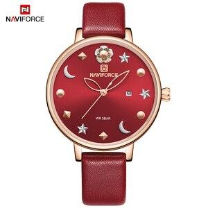 Image 3 - New NAVIFORCE Women Luxury Brand Watch Simple Quartz Lady Waterproof Wristwatch Female Fashion Casual Watches Clock reloj mujer