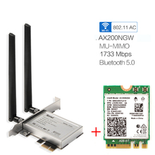 Desktop PCI E 1X Wireless Network Adapter Converter With 2400Mbps Wifi 6 802.11ax For AX200NGW With 2.4/5GHz BT5.0 MU MIMO