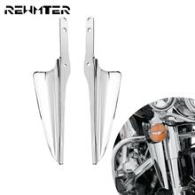 Motorcycle Front Fork Mount Wind Deflectors Chrome Wind Guard Shields For Harley Touring 95-2019 2020 Road King Electra Glide