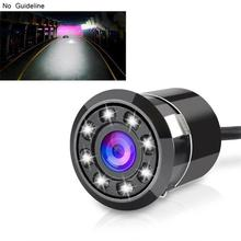купить Car Rear View Camera 170 Degree Auto Reversing Parking Monitor 8 LED Night Vision CCD Waterproof HD Video with high quality cool онлайн