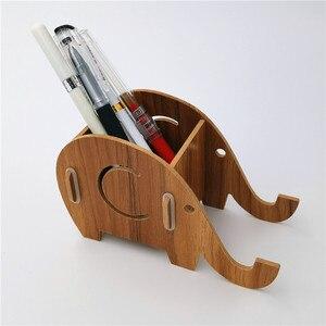 Слон настольная подставка для ручек Органайзер чехол-карандаш подставка для ручек офисные аксессуары также для мобильного телефона держатель для карандашей и ручек держатель