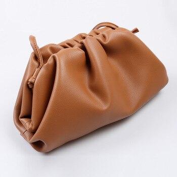 ladies dumplings genuine leather bag 2019 luxury handbags women bags designer crossbody shoulder Cow Leather Bag