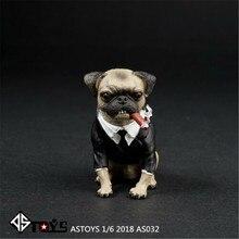 ASTOYS 1:6 AS032 Pug set di cani e sigari modello animale figura statua simulazione animale selvatico F 12 ''collezione di Action Figure